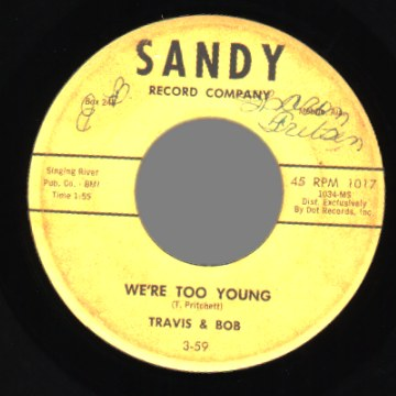 Travis And Bob Tell+Him+No+/+We're+Too+Young 45RPM