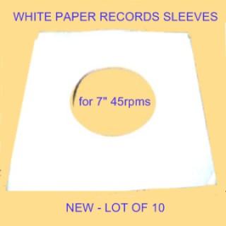 POCHETTES POUR 45 TOURS - Lot de 10 pochettes blanches - Autres