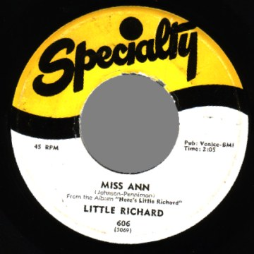 Little Richard - Jenny Jenny / Miss Ann Record