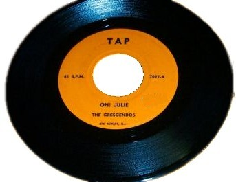 THE CRESCENDOS - Oh Julie / Angel Face - 45T (SP 2 titres)
