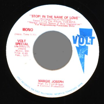 Joseph,Margie Stop+In+The+Name+Of+Love 45RPM